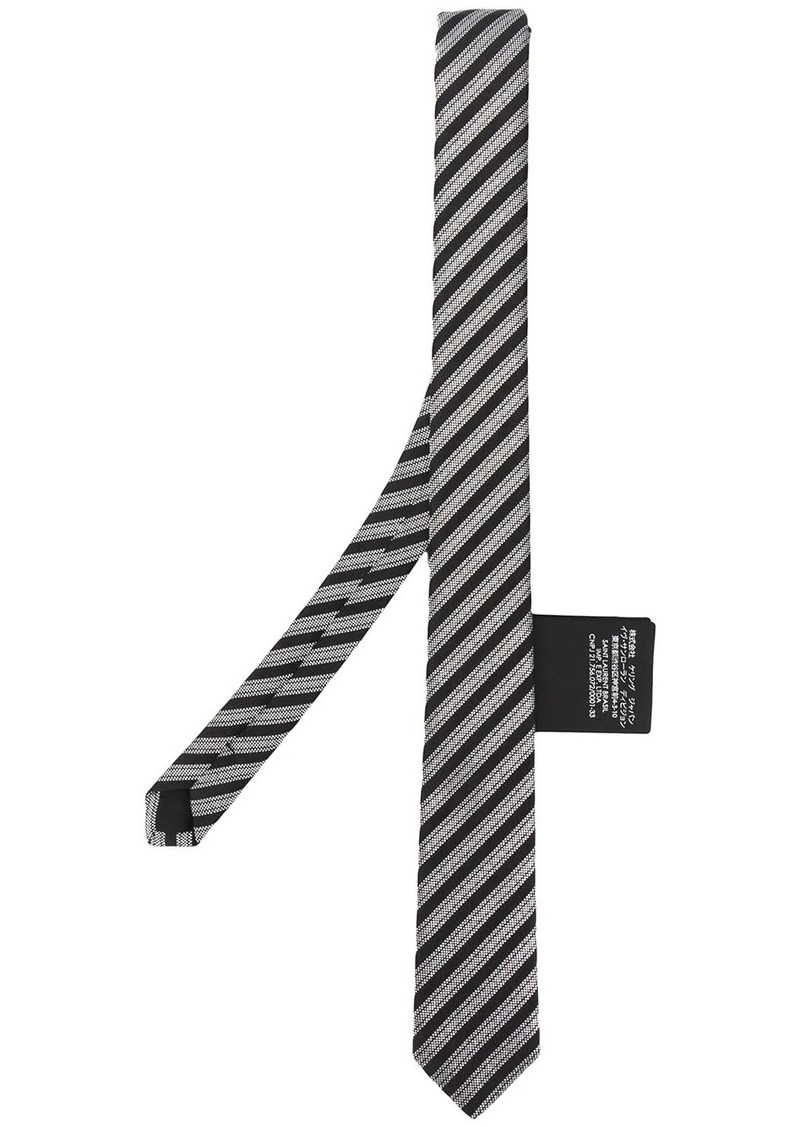 Yves Saint Laurent jacquard striped silk tie
