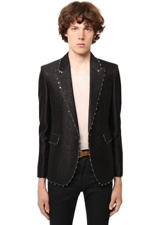 Yves Saint Laurent Jacquard Wool & Silk Jacket