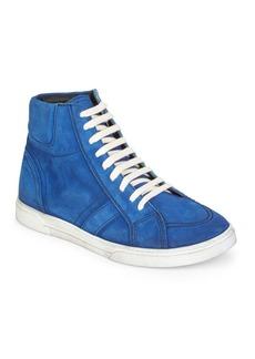 Yves Saint Laurent Joe Suede High-Top Sneakers