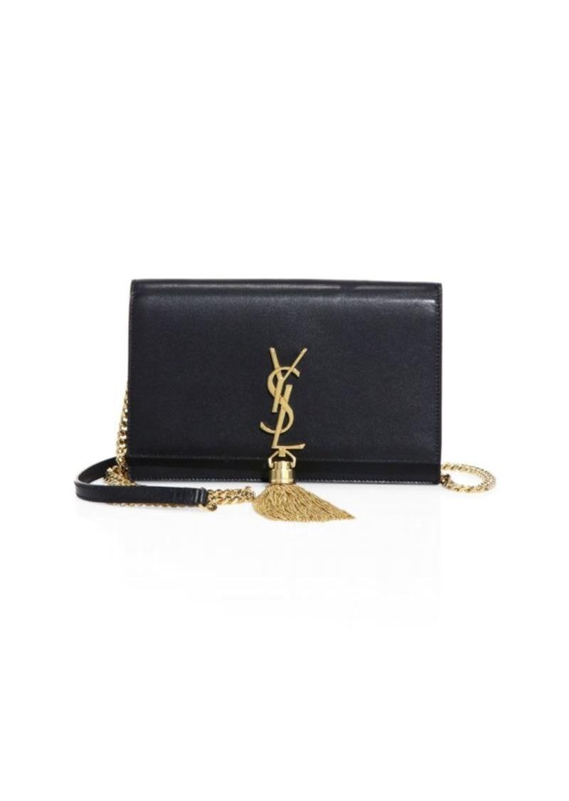d88f4480394dd Saint Laurent Kate Monogram Leather Tassel Chain Wallet