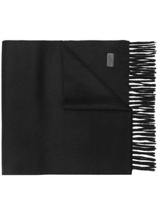 Yves Saint Laurent knitted fringed scarf
