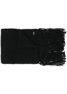 Yves Saint Laurent knitted long scarf