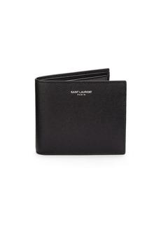 Yves Saint Laurent Leather Bi-Fold Wallet