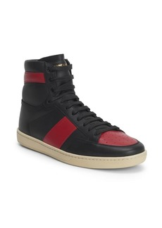 Yves Saint Laurent Court Classic Leather High-Top Sneakers