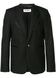 Yves Saint Laurent leather detail blazer