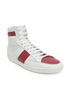 Yves Saint Laurent Leather Flat Heel Sneakers