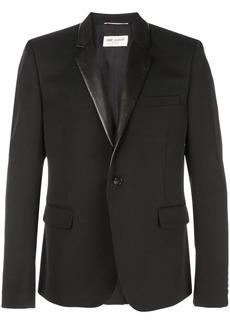 Yves Saint Laurent leather-lapel blazer