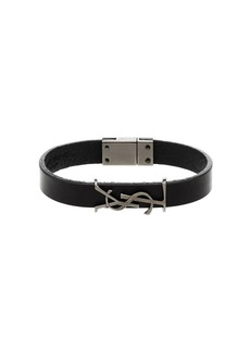 Yves Saint Laurent leather logo bracelet