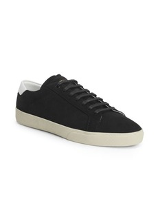 Yves Saint Laurent Leather Low Top Sneakers