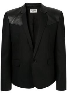 Yves Saint Laurent leather panel blazer