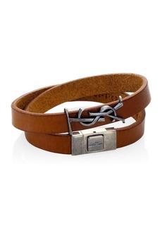 Yves Saint Laurent Leather Wrap-Around Bracelet