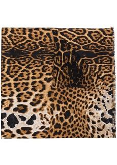Yves Saint Laurent leopard print scarf