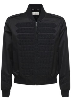 Yves Saint Laurent Lily Embroidered Viscose & Cotton Jacket