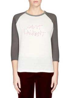 Saint Laurent Logo Baseball T-Shirt