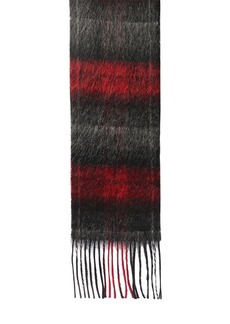 Yves Saint Laurent Logo Check Wool & Mohair Scarf