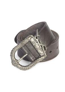Yves Saint Laurent Logo Leather Belt