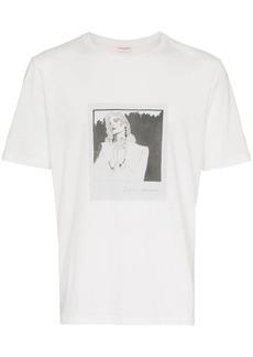 Yves Saint Laurent logo lip-print T-shirt