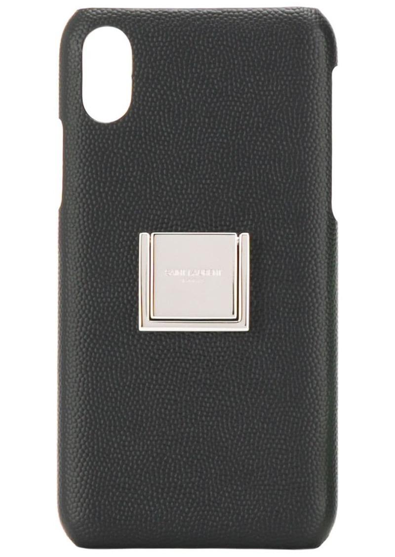 Yves Saint Laurent logo pebbled IPhone X case