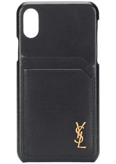 Yves Saint Laurent Monogram plaque iPhoneXS case