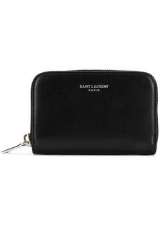 Yves Saint Laurent logo zip-around wallet