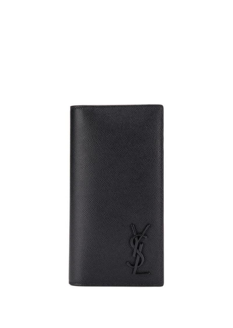 3be841b4412 Yves Saint Laurent long logo appliqué wallet | Misc Accessories