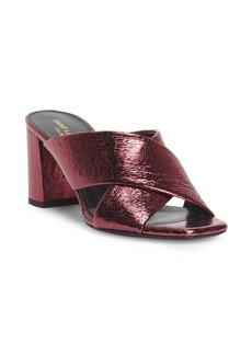 Saint Laurent Lou Lou Metallic Leather Sandals