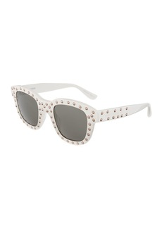 Saint Laurent Lou Unisex Square Studded Plastic Sunglasses