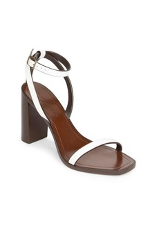 Yves Saint Laurent Loulou Ankle-Strap Leather Sandals