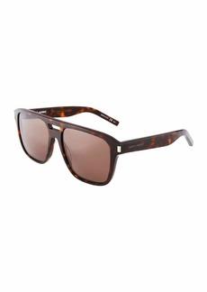 Yves Saint Laurent Men's Plastic Navigator Sunglasses