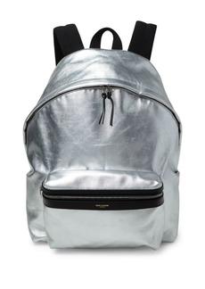 Yves Saint Laurent Metallic Hunting Backpack