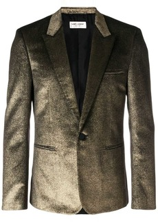 Yves Saint Laurent metallic single-breasted blazer