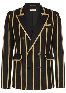 Yves Saint Laurent metallic stripe blazer jacket