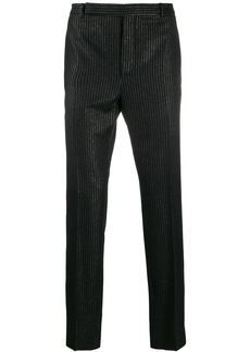 Yves Saint Laurent metallic stripe tailored trousers