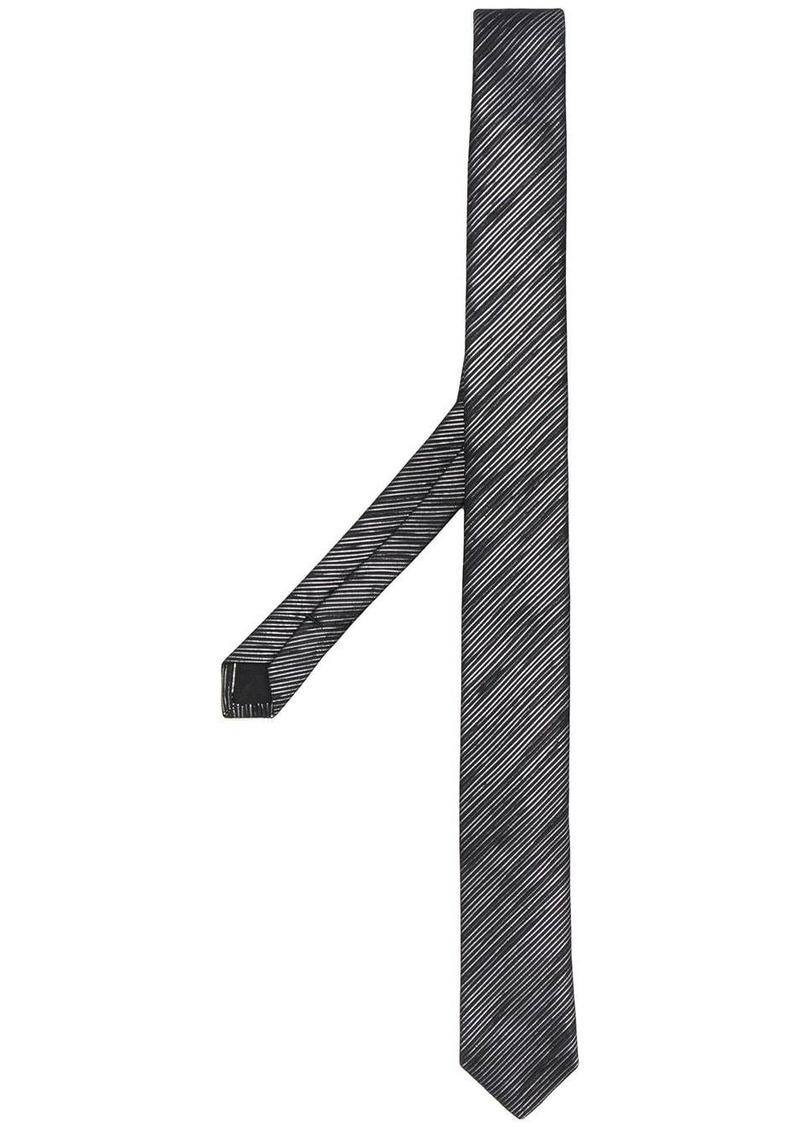 Yves Saint Laurent metallic stripe tie