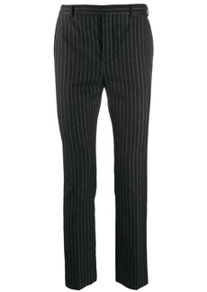 Yves Saint Laurent metallic striped tailored trousers
