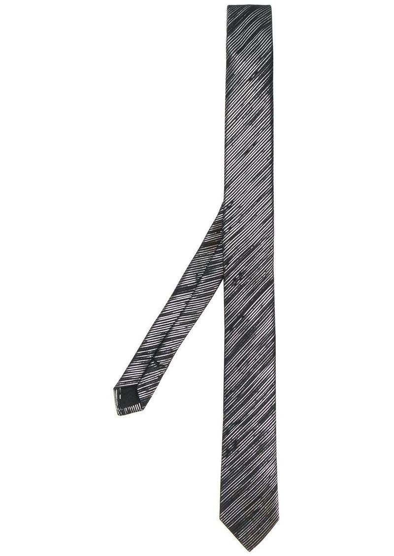 Yves Saint Laurent metallic striped tie