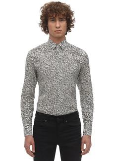Yves Saint Laurent Mini Tiger Print Cotton Shirt