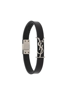 Yves Saint Laurent monogram leather bracelet