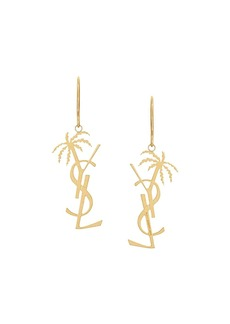 Yves Saint Laurent monogram palm earrings