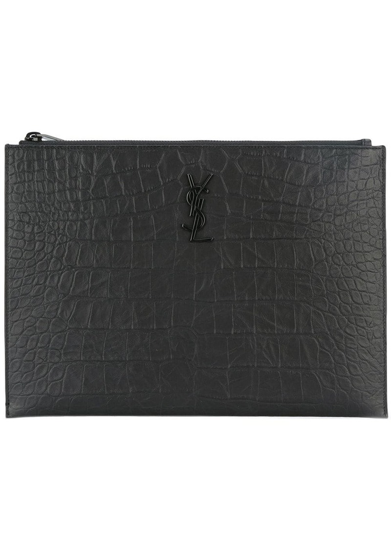 Yves Saint Laurent Monogram zip pouch