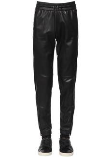 Yves Saint Laurent Nappa Leather Track Pants