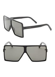 Yves Saint Laurent New Wave 63MM Shield Sunglasses
