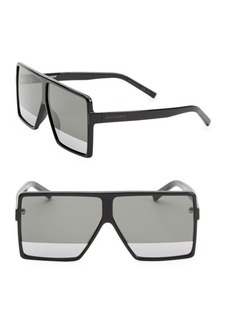 New Wave 63MM Shield Sunglasses