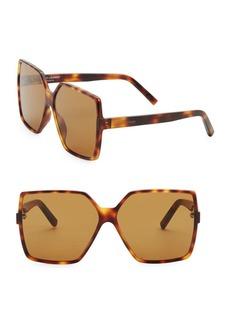 Yves Saint Laurent New Wave 63MM Square Sunglasses