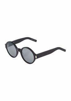 Yves Saint Laurent Opaque Round Plastic Sunglasses