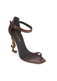 Yves Saint Laurent Opyum Ankle-Strap Leather Sandals