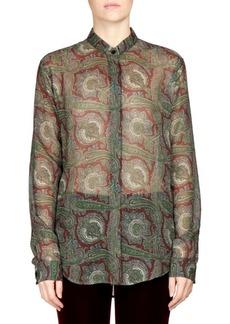 Saint Laurent Paisley Print Button Front Shirt