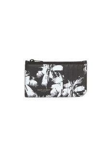 Yves Saint Laurent Palm Leather Credit Card Holder
