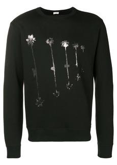 Yves Saint Laurent palm print sweatshirt