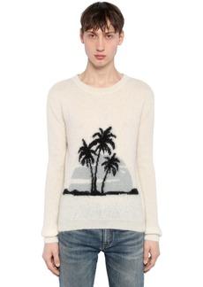 Yves Saint Laurent Palms Mohair Blend Jacquard Sweater